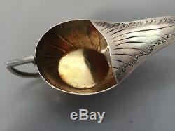 Ancien rare biberon canard de malade en argent massif minerve rocaille XIXème