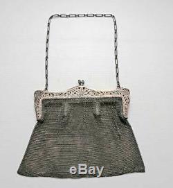 Ancien sac maille argent massif, expertisé et poinçon, bradé avant déménagement
