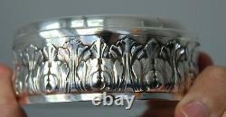 Ancienne Boite En Argent Minerve Decor Feuillage Monogramme 120g