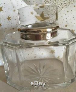Ancienne Boite En Cristal Paris Monture En Argent Massif