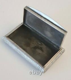 Ancienne Boîte Tabatière ARGENT MASSIF Scène de Chasse Solid Silver Snuffbox