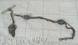 Ancienne Chaine De Montre A Gousset Argent Massif Pocket Watch Chain Silver