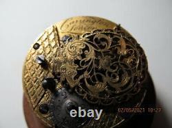Ancienne Montre Gousset Coq Émail Peint Carrington London Watch