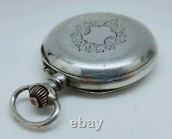 Ancienne Rare Montre Gousset Complications 1890 À Réviser S. G. D. G Old Watch