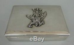 Ancienne boite en argent massif indochine antique burmese silver box 204 gr