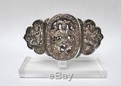 Ancienne boucle de ceinture Argent Massif 19ème siècle BIRMANIE