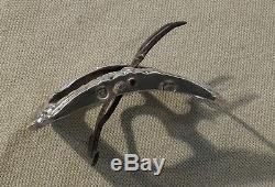 Ancienne boucle de chaussure fer forgé et argent massif fin XVIII ème