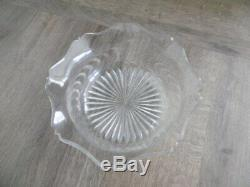 Ancienne coupe en argent massif intérieur en verre taillé
