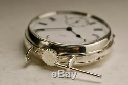 Ancienne montre 35mm ARGENT 1900 ARMY & NAVY vintage SILVER watch
