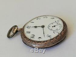 Ancienne montre a gousset suisse en argent massif