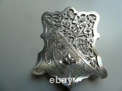 Ancienne pelle a asperges art Nouveau argent massif poinçon minerve décor floral