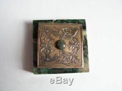 Ancienne sonnette de table argent massif celebre orfevre Maquet Paris Nice