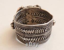 Bague ancienne en ARGENT massif silver ring ethnique Orient