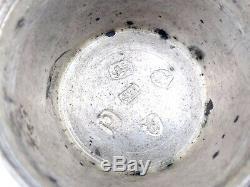 Boite rape à muscade ancienne argent massif forme tonneau XIXeme nutmeg grater