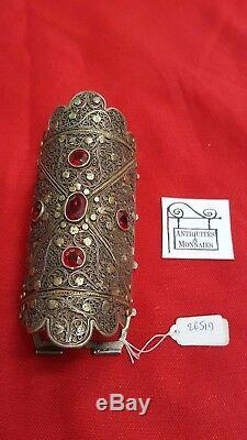 Boucle De Ceinture Ancien Argent Massif Afrique Du Nord Ref26519