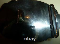 Boucle de ceinture- en argent asiatique-superbe travail ancien decor oiseaux ém