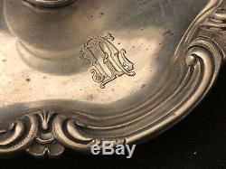 Bougeoir à Main Ancien Argent Massif avec son Etoignoir Antique Candlestick