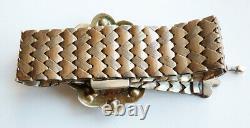 Bracelet 19e siècle en argent massif + jaspe sanguin Bijou ancien silver