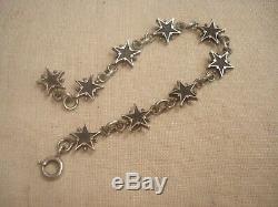 Bracelet Ancien Argent Pentacrines ÉTOILES de St Vincent Digne Les Bains