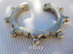 Bracelet Esclave Ancien Vintage Argent Massif Afrique Touareg 108 Grammes Ac25