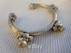 Bracelet Esclave Ancien Vintage Argent Massif Afrique Touareg 54 Grammes Ac23