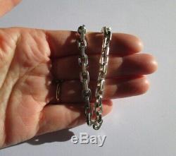 Bracelet ancien importante maille forçat Argent massif 925 24g Sterling silver