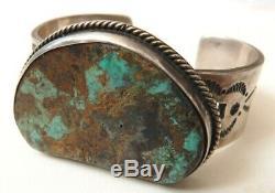 Bracelet en ARGENT + turquoise Bijou ancien silver indien Navajo