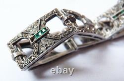 Bracelet en argent massif silver bijou ancien ART DECO vers 1925
