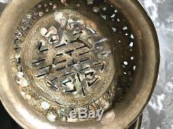 Brule parfum ancien chinois chine argent massif chien de fô silver chinese