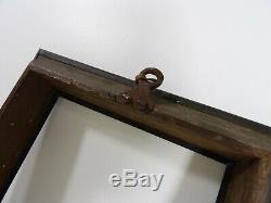 Cadre ancien XVIIIe ACAJOU MASSIF BRONZE ARGENT EBENE objet de marine anglais