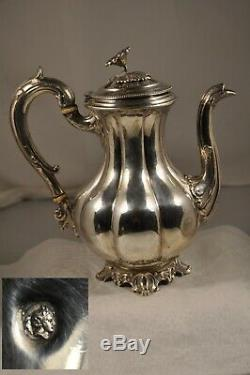 Cafetiere Ancien Argent Massif Tete A Tete 347gr Antique Solid Silver Coffee Pot