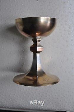 Calice Ciboire Ancien Argent Massif Minerve 548 Gr
