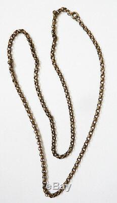 Chaine sautoir collier maille jaseron argent massif bijou ancien silver chain