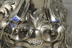 Coupe Ancienne Cristal Argent Massif XIX Antique Solid Silver Bowl