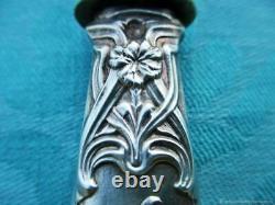 Couteau ancien Spatule de service Oeillets Argent Art Nouveau Franz Antique knif