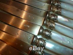 Couteaux en argent superbe serie de couteaux anciens-ROBERT LINZELER signatu