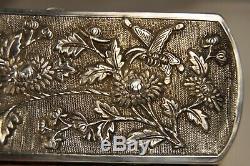 Etui A Lorgnette Ancien Argent Massif Antique Chinese Silver Opera Glasses Case