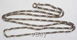 Grand Sautoir collier chaine en ARGENT massif bijou ancien silver chain 54 gr