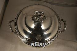 Legumier Ancien Argent Massif Antique Solid Silver Vegetables Dish 1,27kg