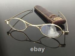 Lunettes Anciennes Argent Massif Binocles XIXè Etui Silver Binoculars 19thC