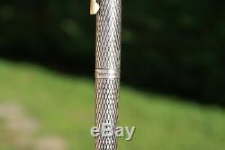 Magnifique ancien stylo plume 18 kts SHEAFFER IMPERIAL en argent massif