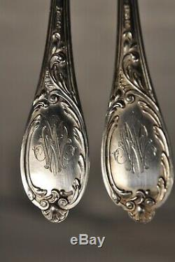 Menagere Ancien Argent Massif 25p Antique Solid Silver Cutlary Silverware 2,014k