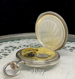 Montre de Gousset ancienne OMEGA Boitier Argent HOLY Antique Silver Pocket Watch