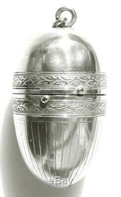 Nécessaire de couture cousette ancien ARGENT MASSIF XIX silver sewing etui