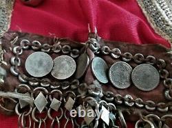 Niqab ancien années 50 Yemen Arabie Saoudite monnaies bijou ethnique