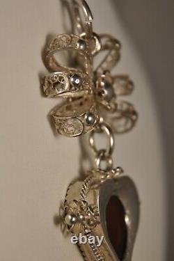 Pendentif Russe Ancien Argent Massif Antique Filigree Silver Russian Pendant