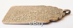Pendentif ancien en argent massif Bijou Copte ou Arménie silver pendant