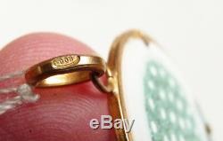 Pendentif en vermeil argent + verre de Murano bijou ancien