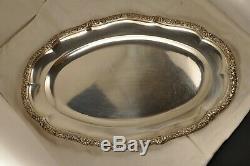 Plat Ancien Argent Massif Mo Boulenger Antique Solid Silver Fish Dish 995gr