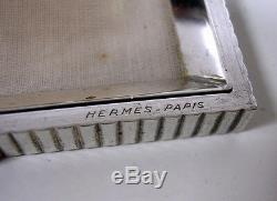 Rare Poudrier Hermes En Argent & Or Ancien De Collection